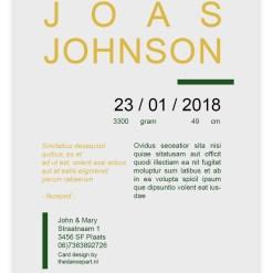 """Geboortekaart """"Vis"""" // Digitale download // Drukklaar // Vis //Jongen // Simpel // Minimalistisch"""