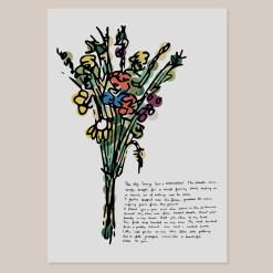 Etsy thumbnail wild flowers-wilde bloemen boeket poster wall art