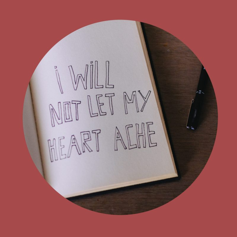 heartache, relient k, typography, i will not let my heart ache