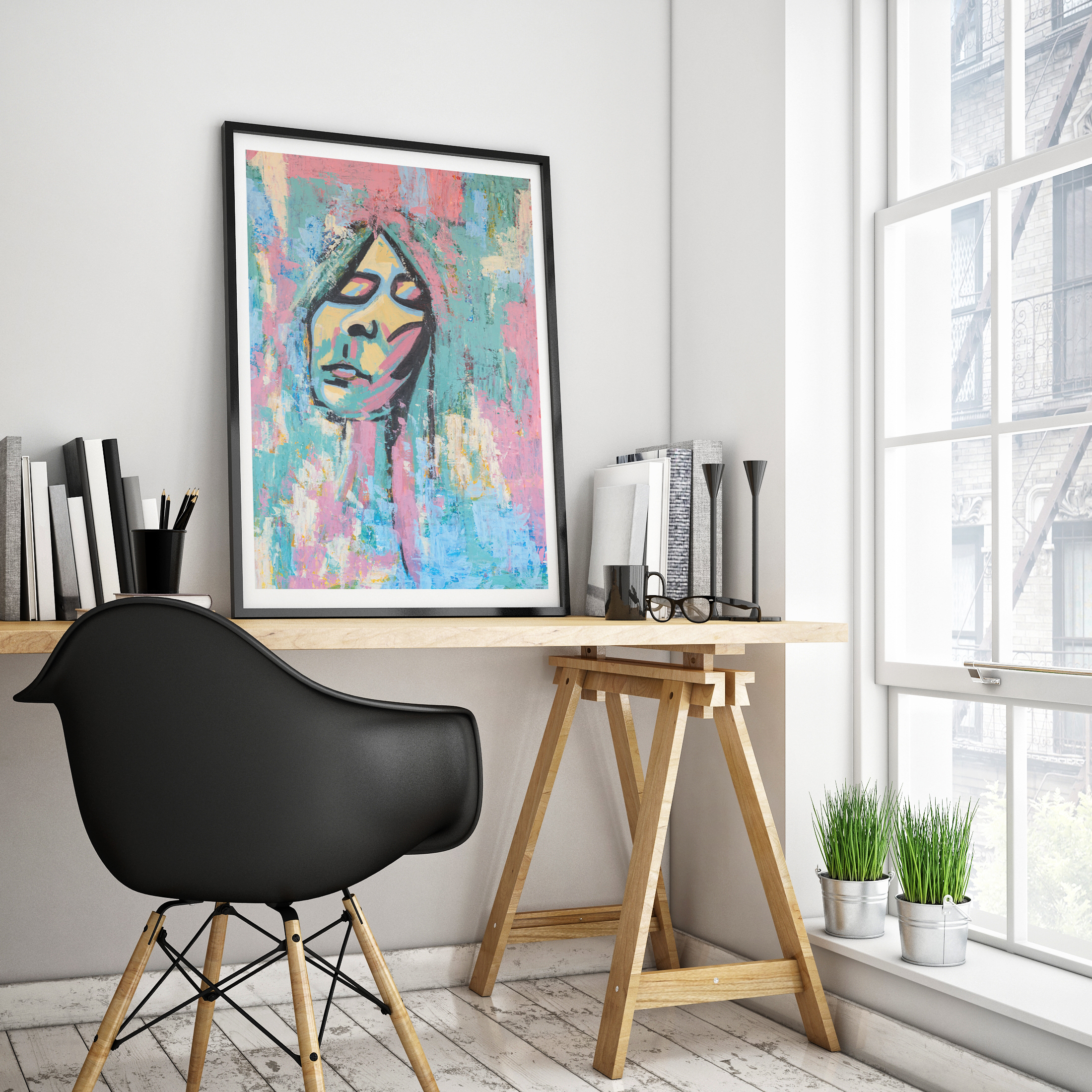 I Was Everywhere painting abstract portrait