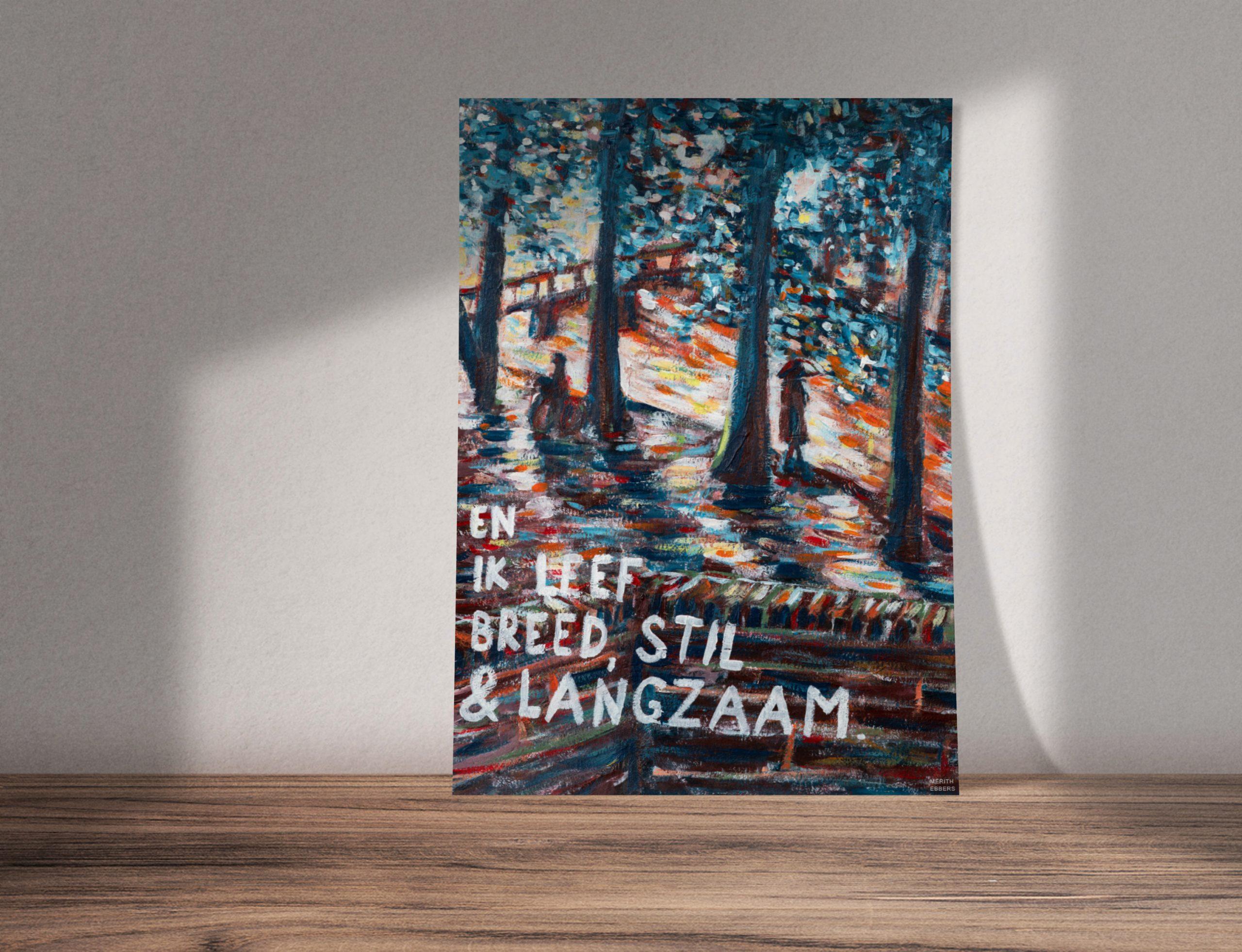painting ik leef breed