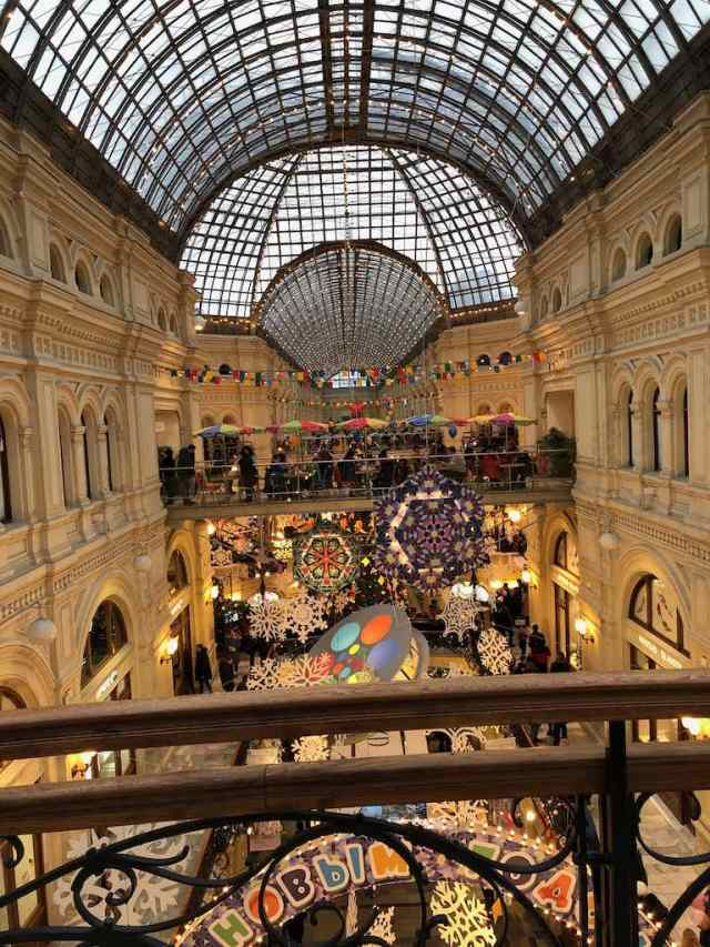 Inside GUM department store in Moscow