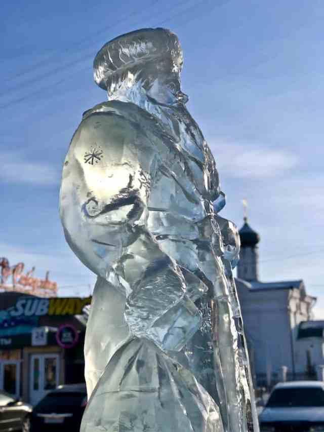 ice sculpture in ulan ude