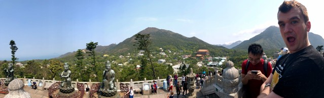 View of Po Lin Monastery from the Big Buddha  Lantau Island: The Lung of Hong Kong    www.thedancingcircustraveller.com