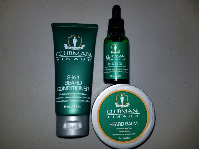 Clubman Pinaud Beard Oil, Balm, and Conditioner