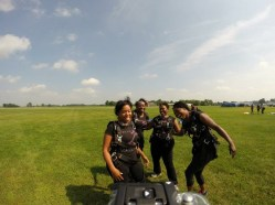 skydiving land