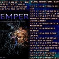 Blog Tour +Giveaway: Temper (Ripples in the Status Quo #5) by R. Phoenix #MM