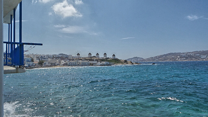 Mykonos Greece Sea
