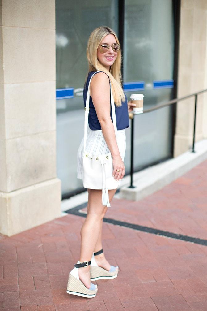 Drapey Stripe Shorts