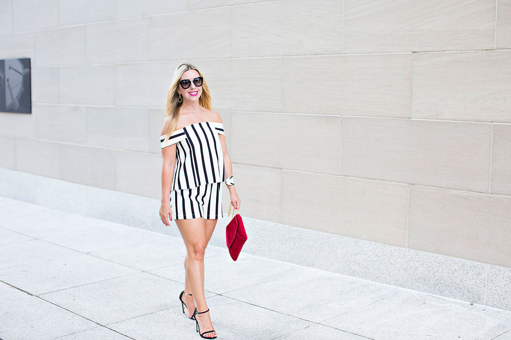 Nicole Kirk - Striped Romper- Dallas Blooger