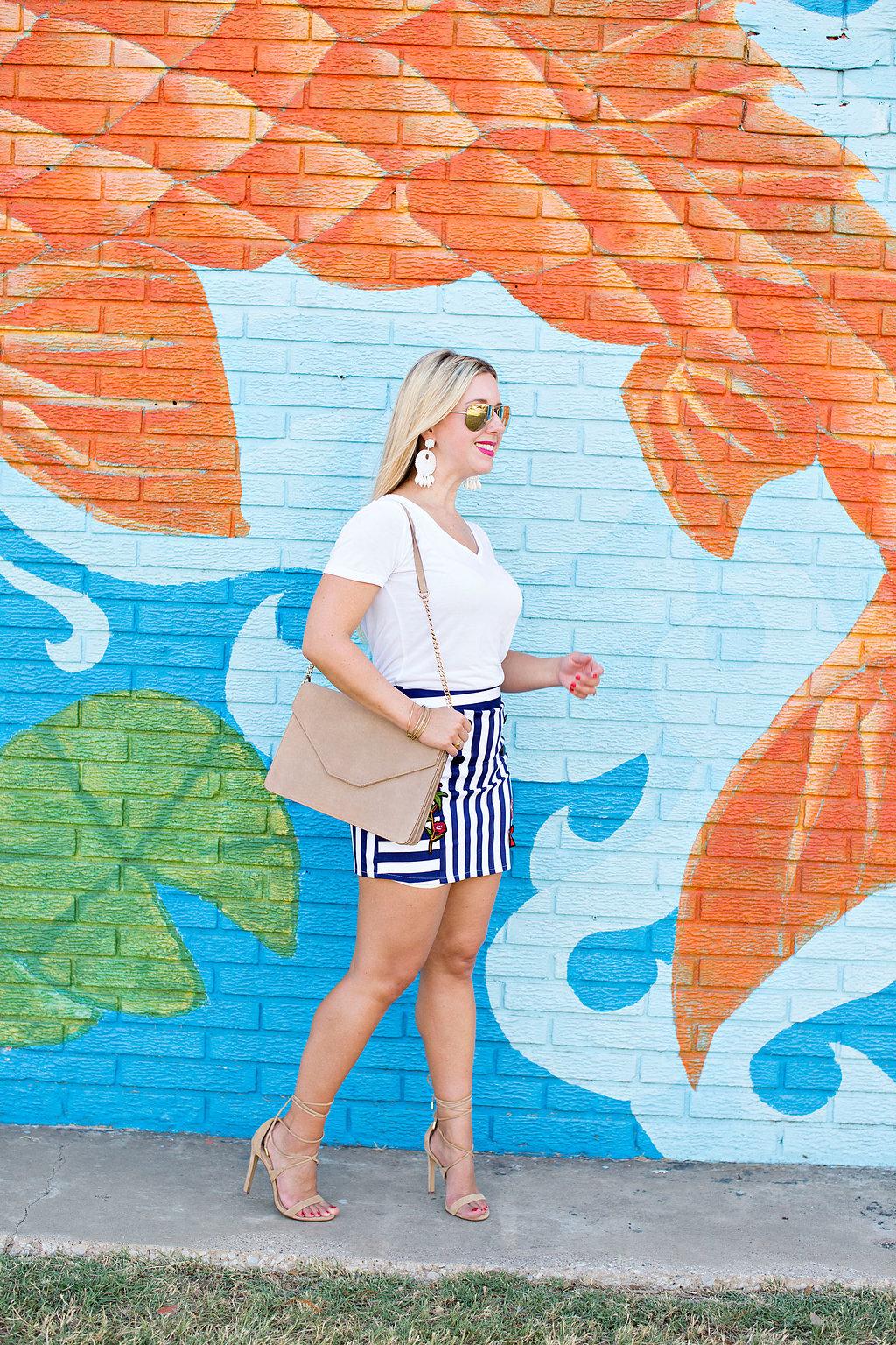 Patch kiss me bud skirt - Dallas Blog - Nicole KIrk