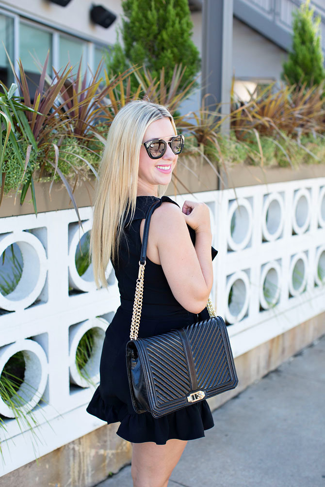 Black Ruffle Romper - Fashion Blogger- Nicole Kirk