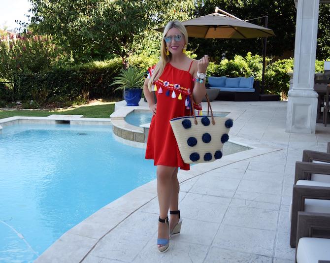 Red Tassel Dress