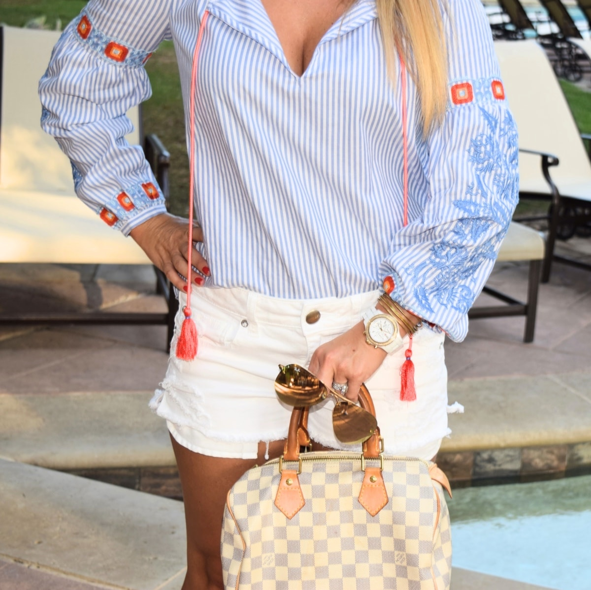 Tory Burch Striped Tunic - The perfect summer tunic to wear with cut off shorts