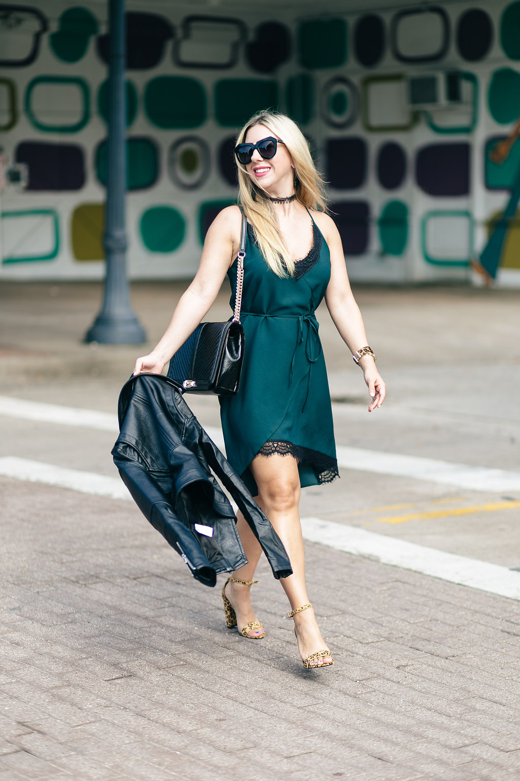 Fashion Blog | Green wrap dress