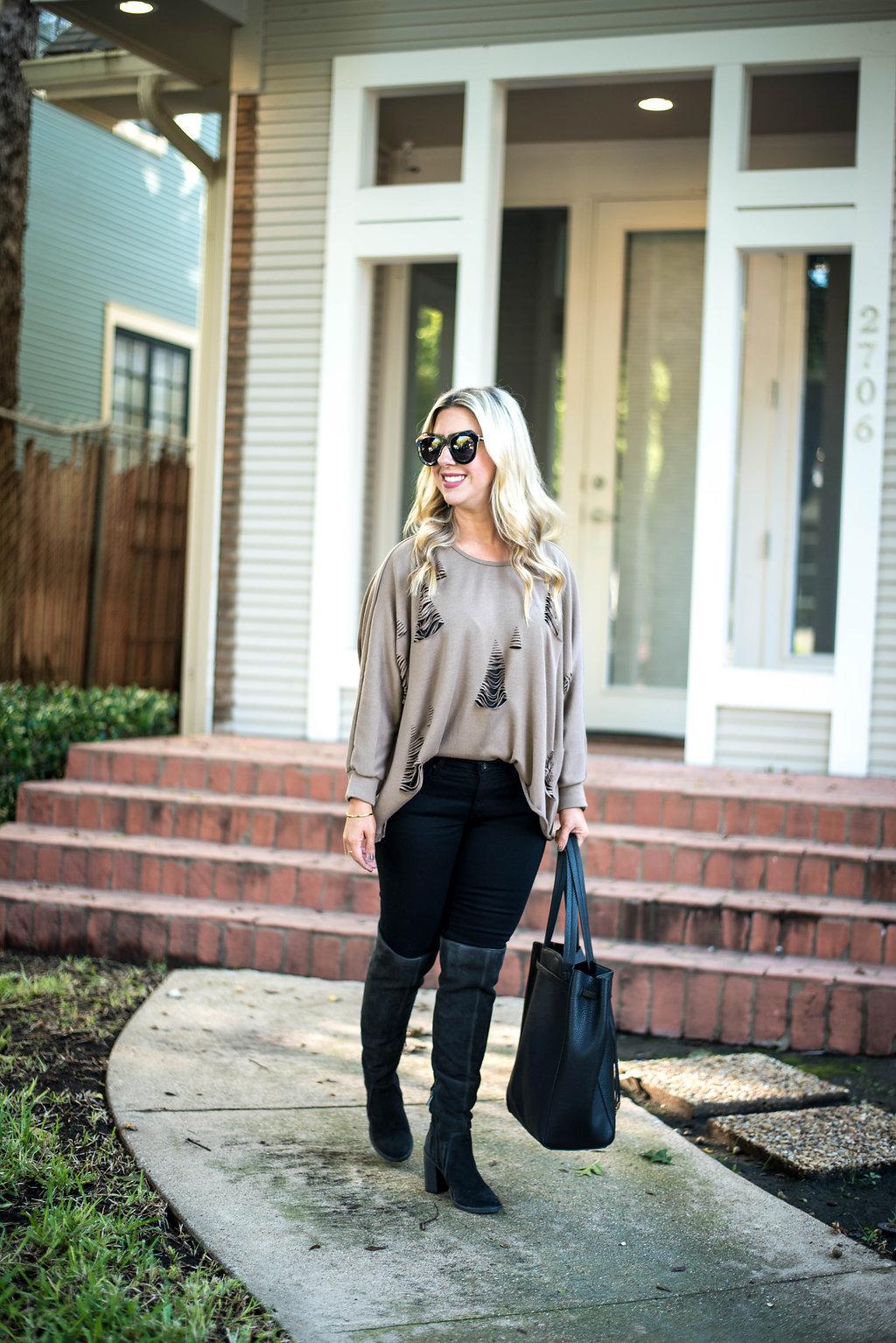 Distressed Sweater | Dallas Fashion Blogger