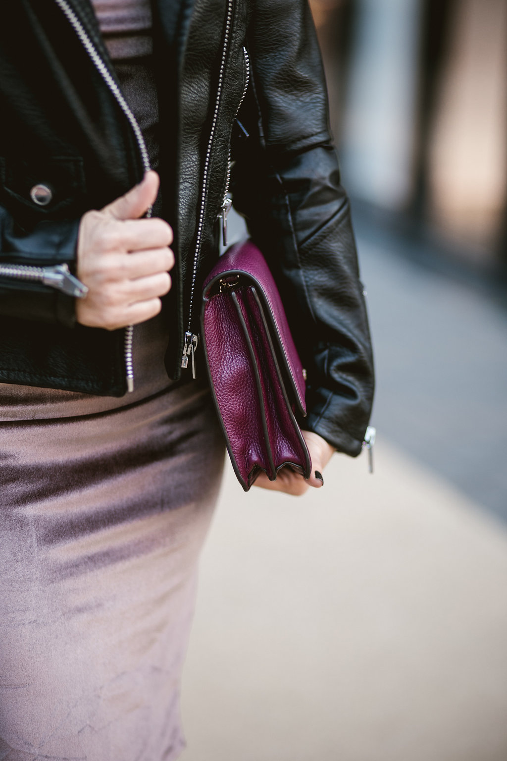 Leather Jacket With A PoP of Color| Dallas Fashion