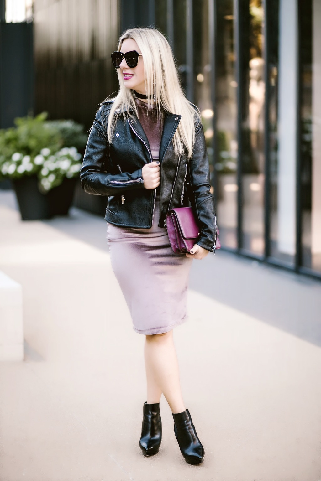 Leather + Velvet | Dallas Blogger