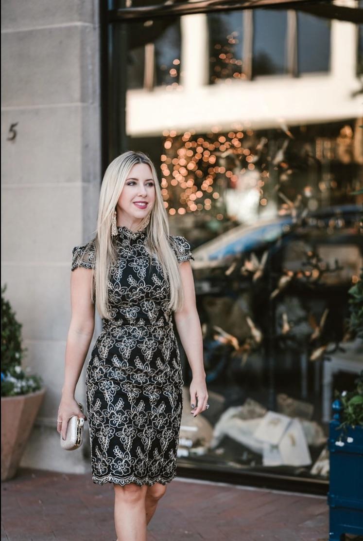 Mesh Holiday Dress | The Darling Petite Diva