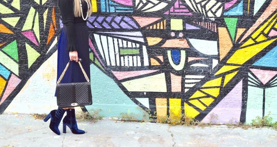 Winter Blues | Blue Skirt | The Darling Petite Diva