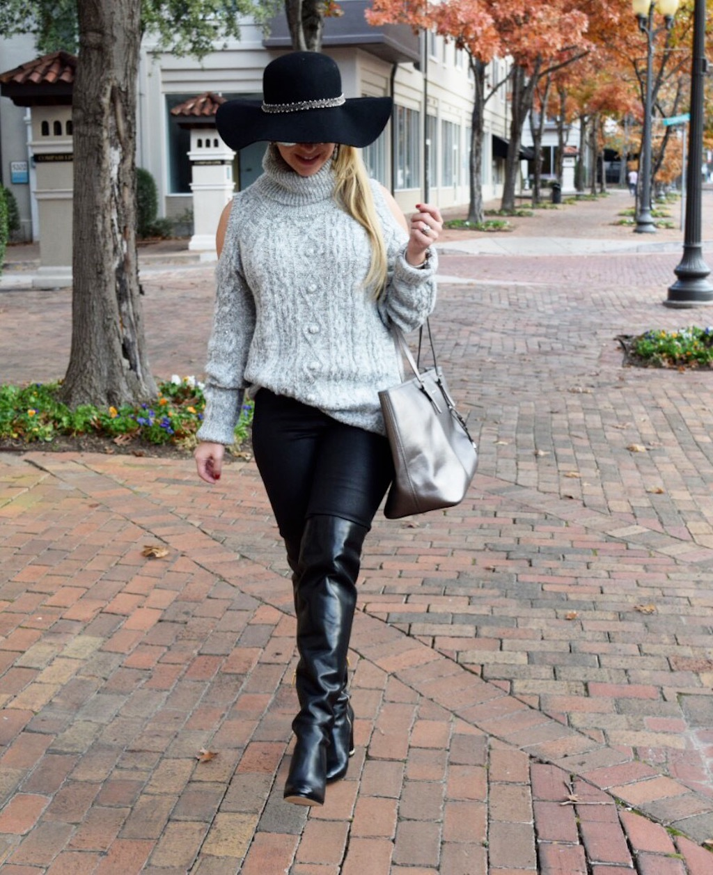 Shoulder Cut Out Sweater | The Darling Petite Diva