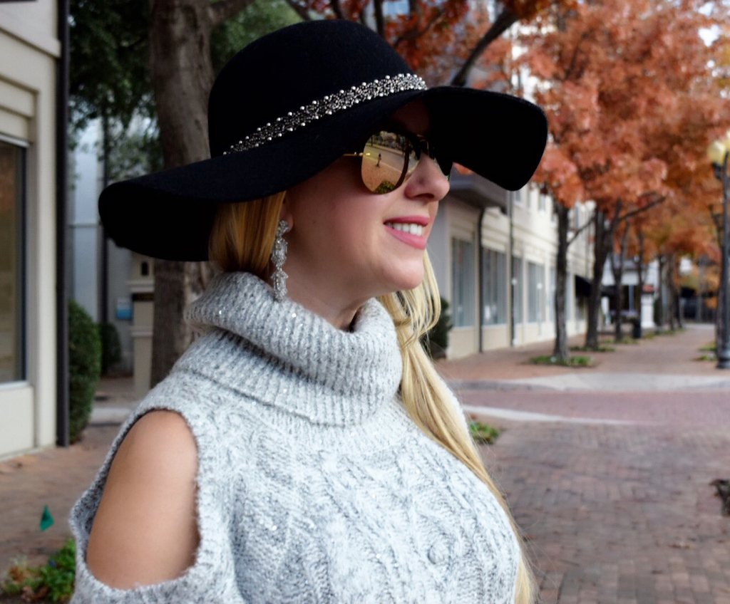 Shoulder Cut Out | Floppy Hat