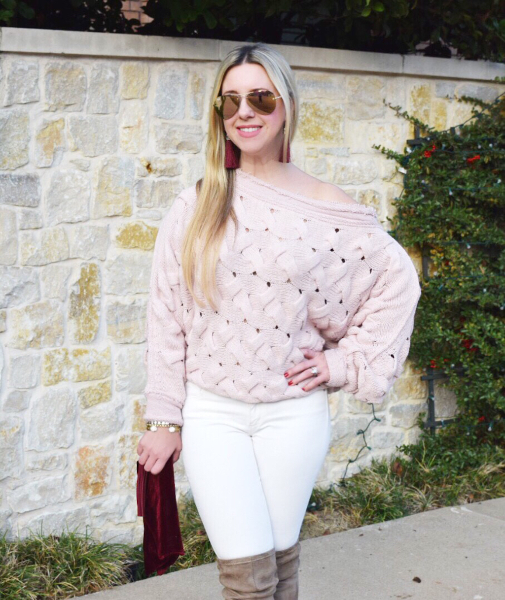 Off The Shoulder Sweater | The Darling Petite Diva