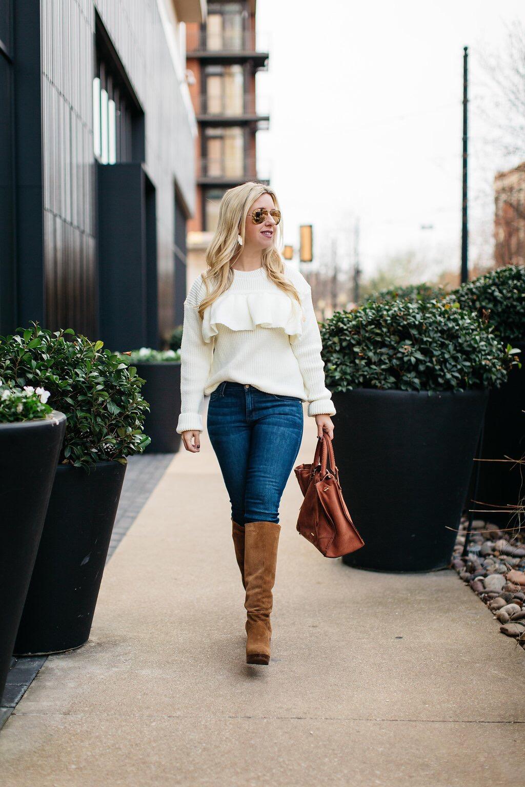 Chunky knit sweater | Dallas Fashion | Nicole Kirk