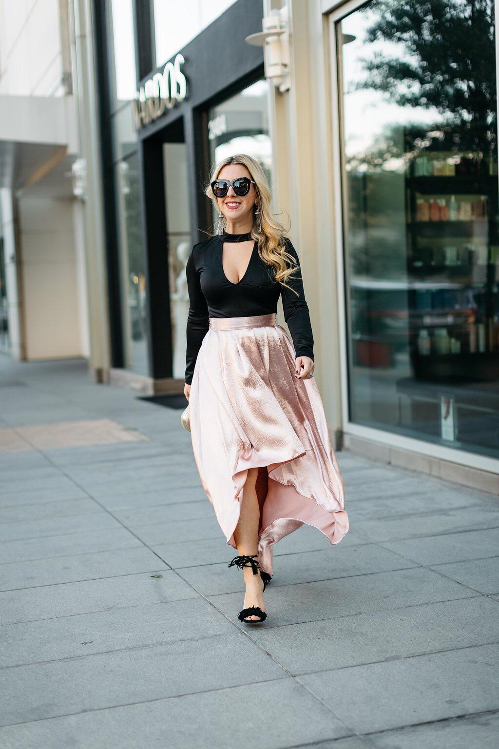 Pink Pleated Skirt | The Darling Petite Diva | Nicole Kirk