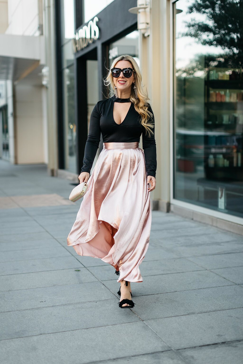 Pink Pleated Skirt | The Darling Petite Diva