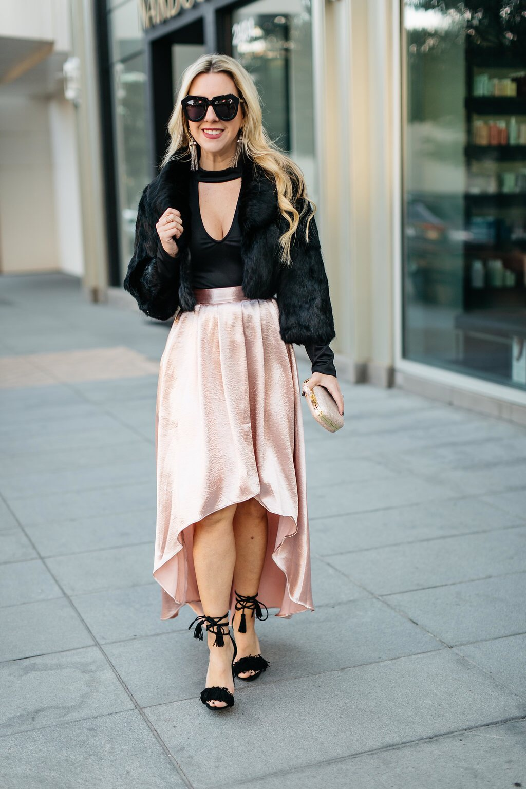 Pink Pleated Skirt   The Darling Petite Diva
