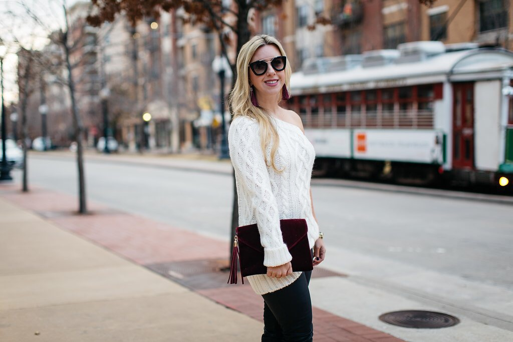 Off the Shoulder Winter Glam | Nicole Kirk