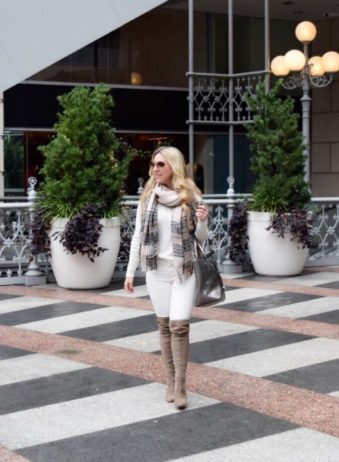 Winter White Cable Sweater | Dallas Fashion