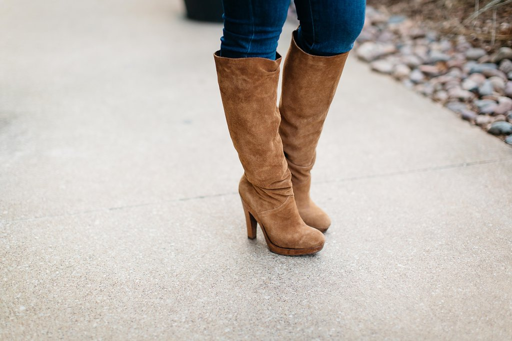 Tobacco Suede Boot | Dallas Fashion