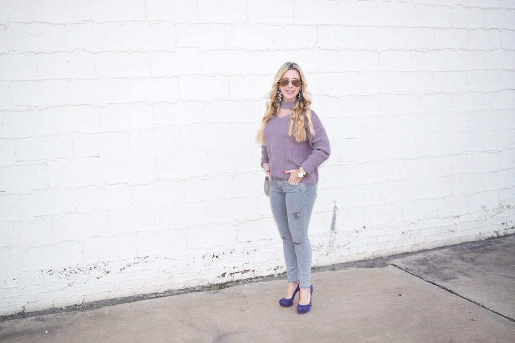 Choker Sweater | The Darling Petite Diva | Nicole Kirk