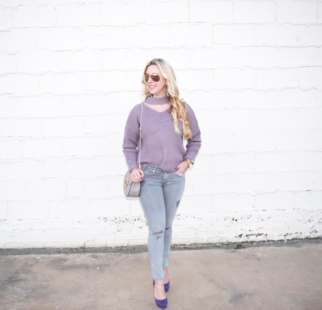 Choker Sweater | The Darling Petite Diva | Nicole Kirk