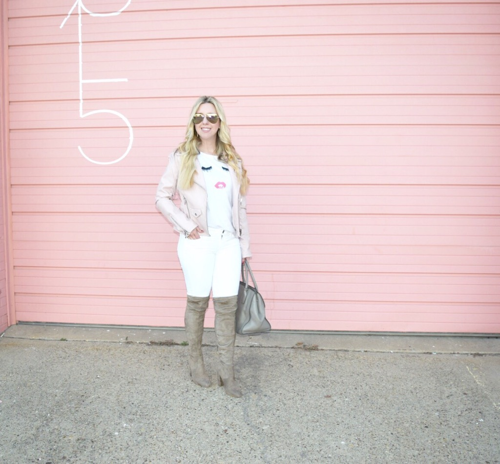 White On White With A Hint Of Blush | The Darling Petite Diva | Nicole Kirk