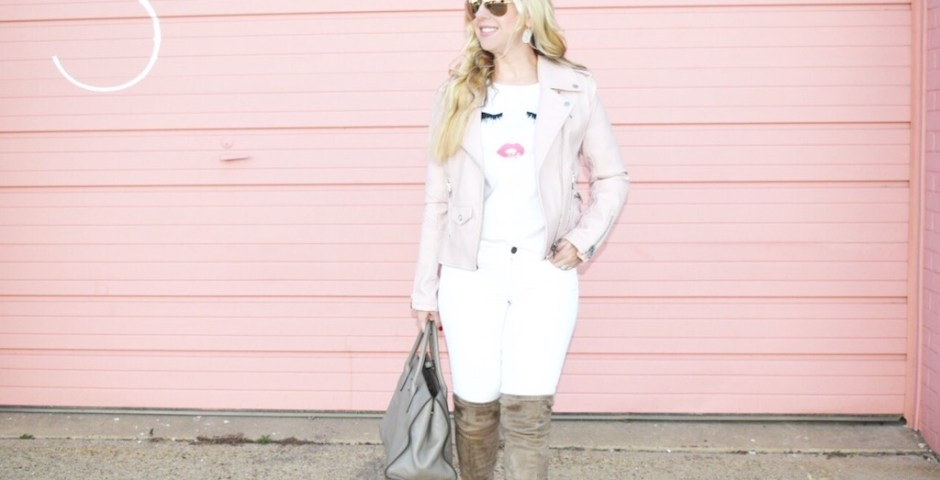 White On White With A Hint Of Blush   The Darling Petite Diva   Nicole Kirk