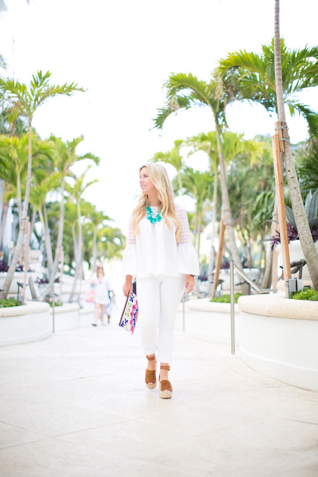 White Bell Sleeve Top | The Darling Petite Diva | Nicole Kirk