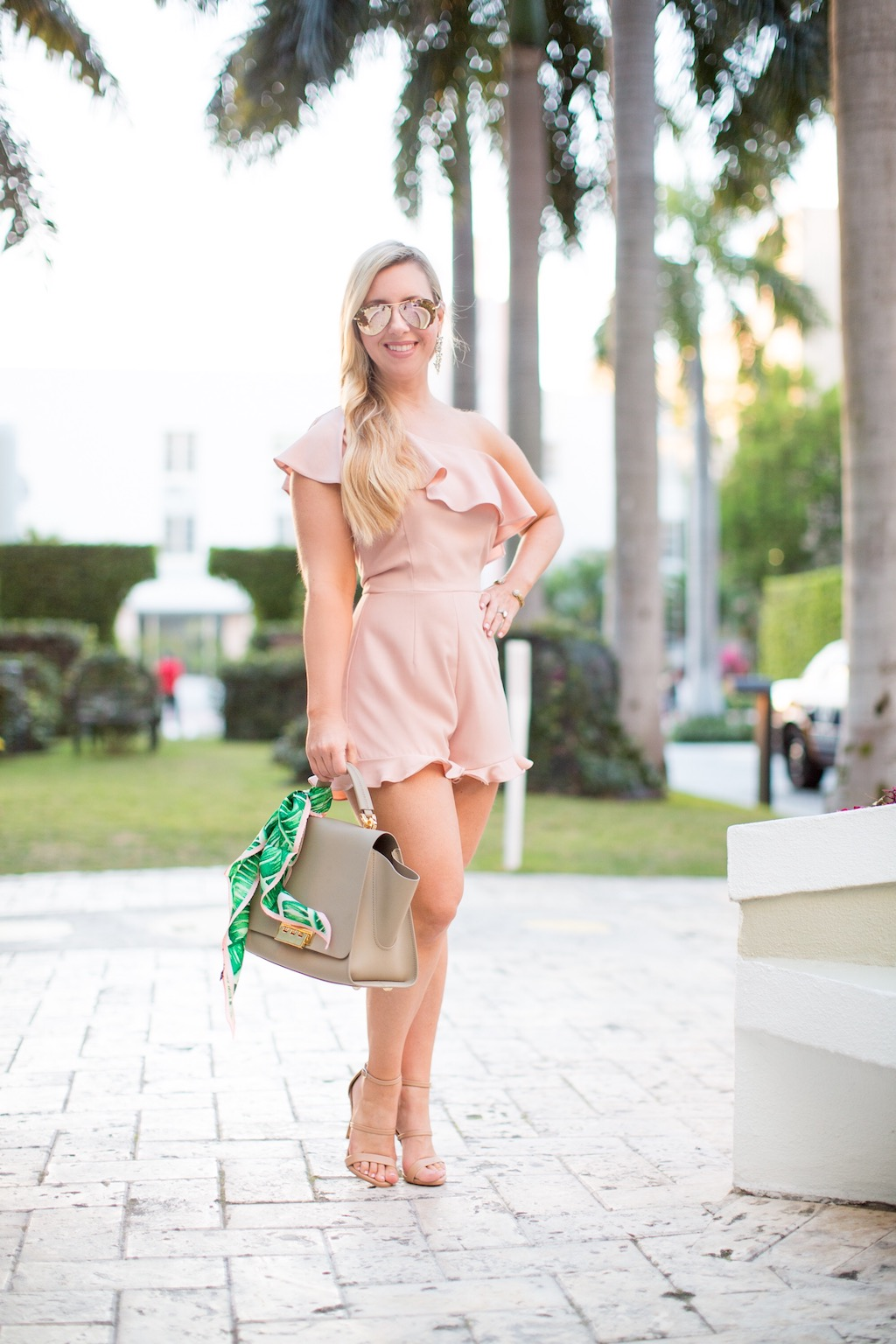 Get on Trend With This Blush Romper | Nicole Kirk | The Darling Petite Diva