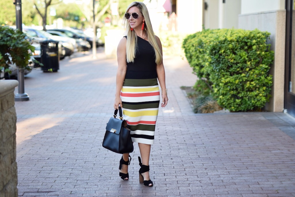 Seeing Stripes - 4 Striped Skirts For Spring   The Darling Petite Diva