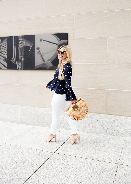 Dot Bell-Sleeve Top | The Darling Petite Diva | Nicole Kirk