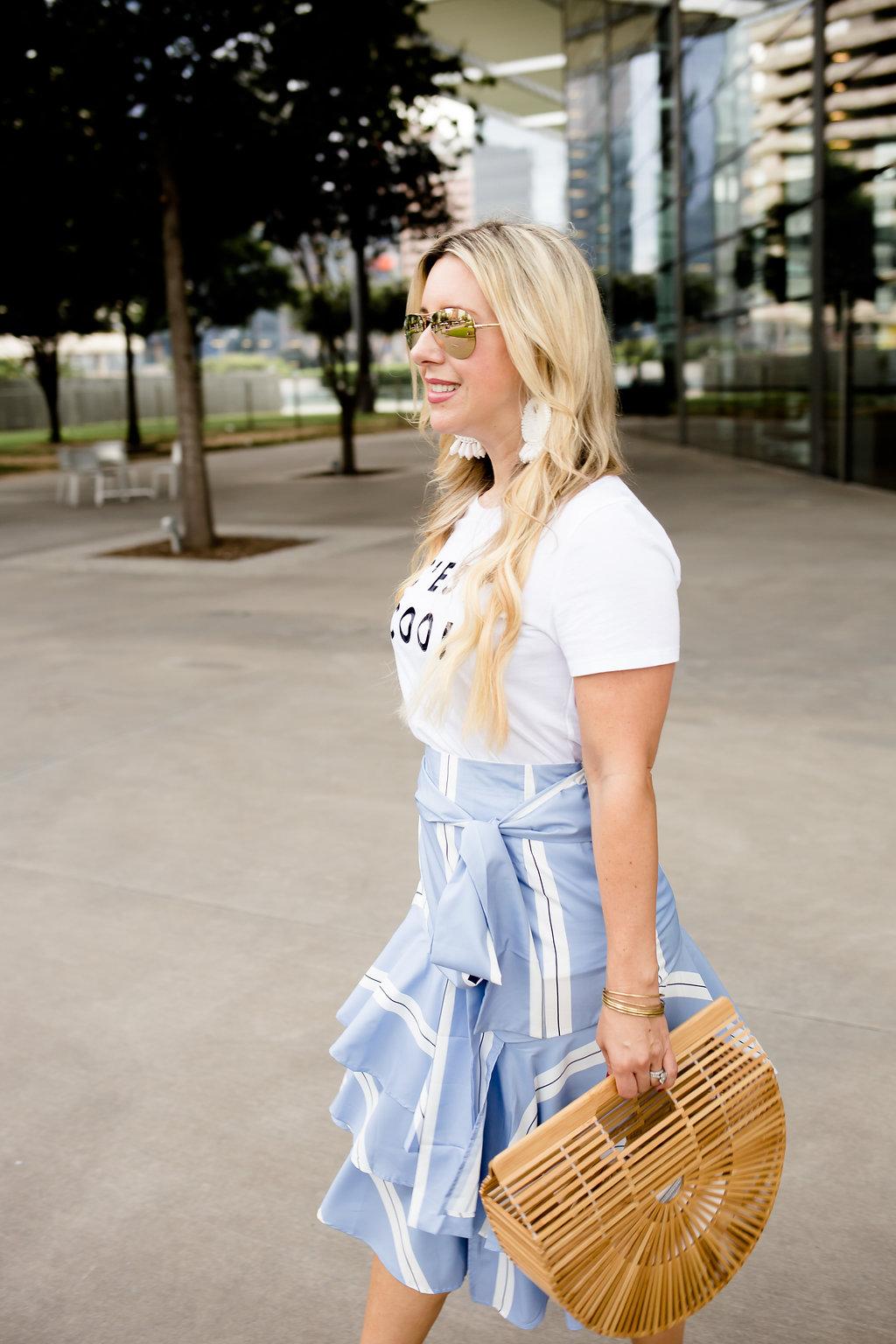Graphic Tee & Ruffle Skirt | The Darling Petite Diva