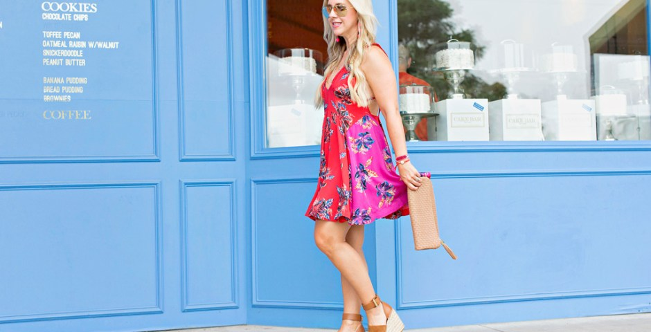 Floral Mini Dress | The Darling Petite Diva | Nicole Kirk | Dallas | Free People