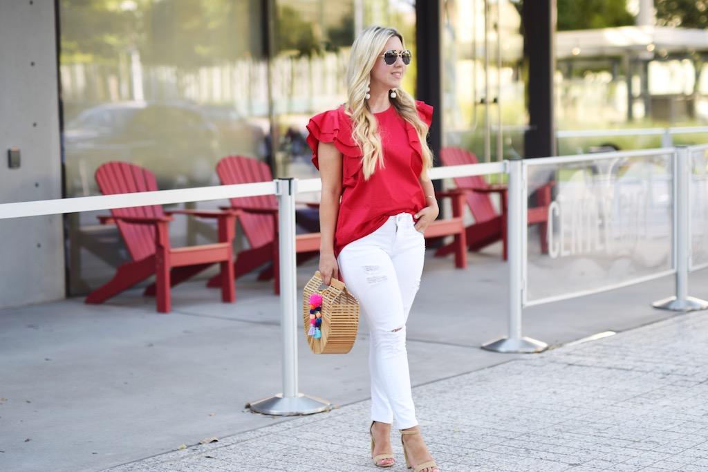 Red Ruffles | The Darling Petite Diva | Dallas Blogger