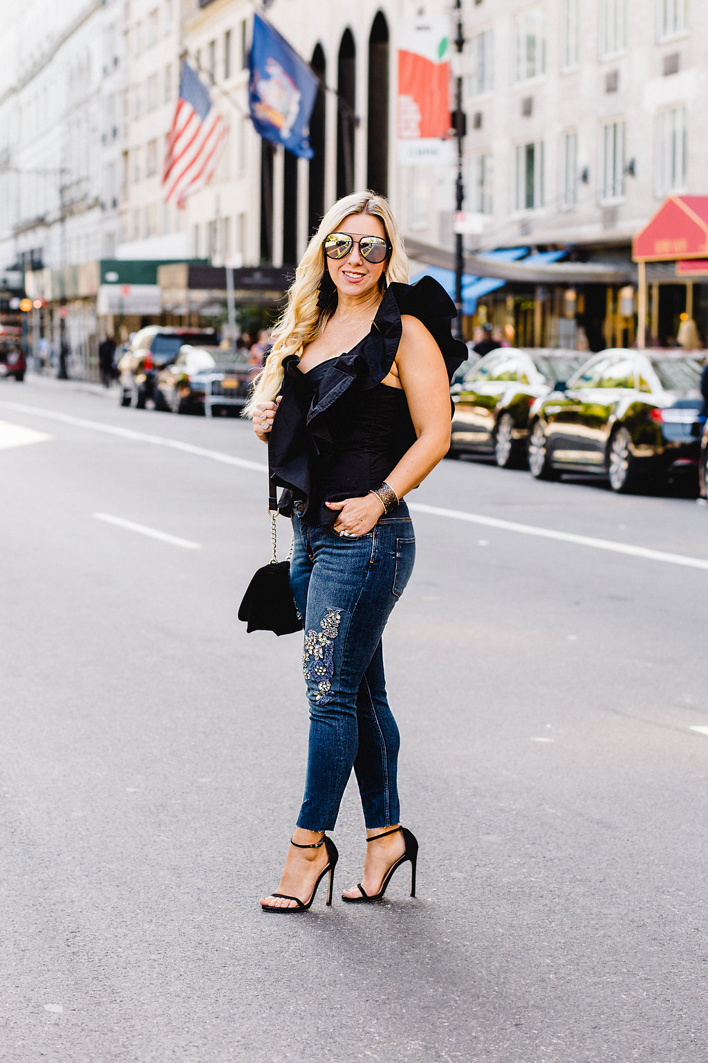Embellished Jeans | New York Fashion Week | The Darling Petite Diva