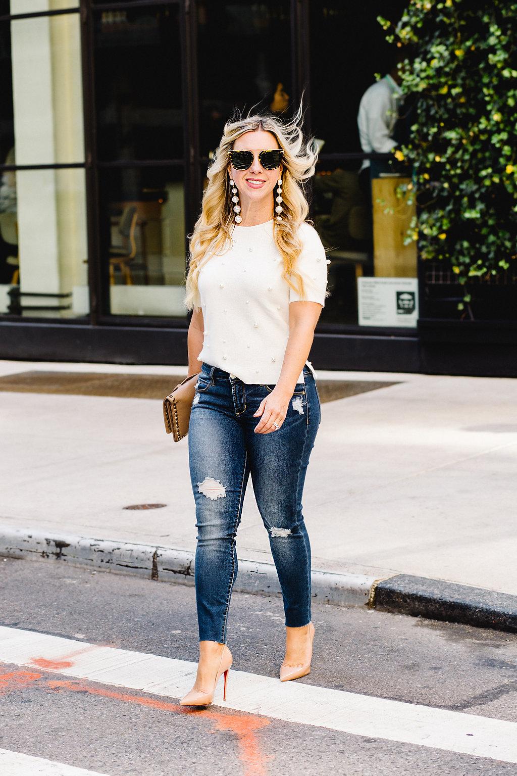 Pearl Embellished Top | The Darling Petite Diva | Fashion Week