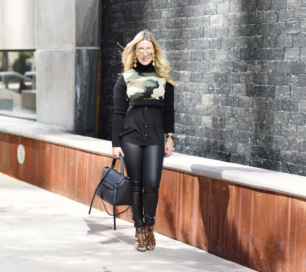 Camo Sweater | Fall Look | Nicole Kirk | The Darling Petite Diva