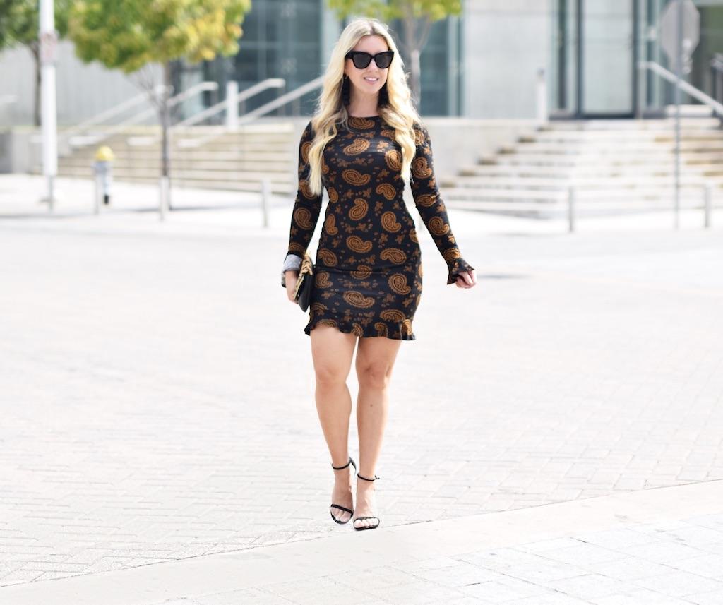 Paisley Ruffled Hem Dress | Fall Dress | The Darling Petite Diva