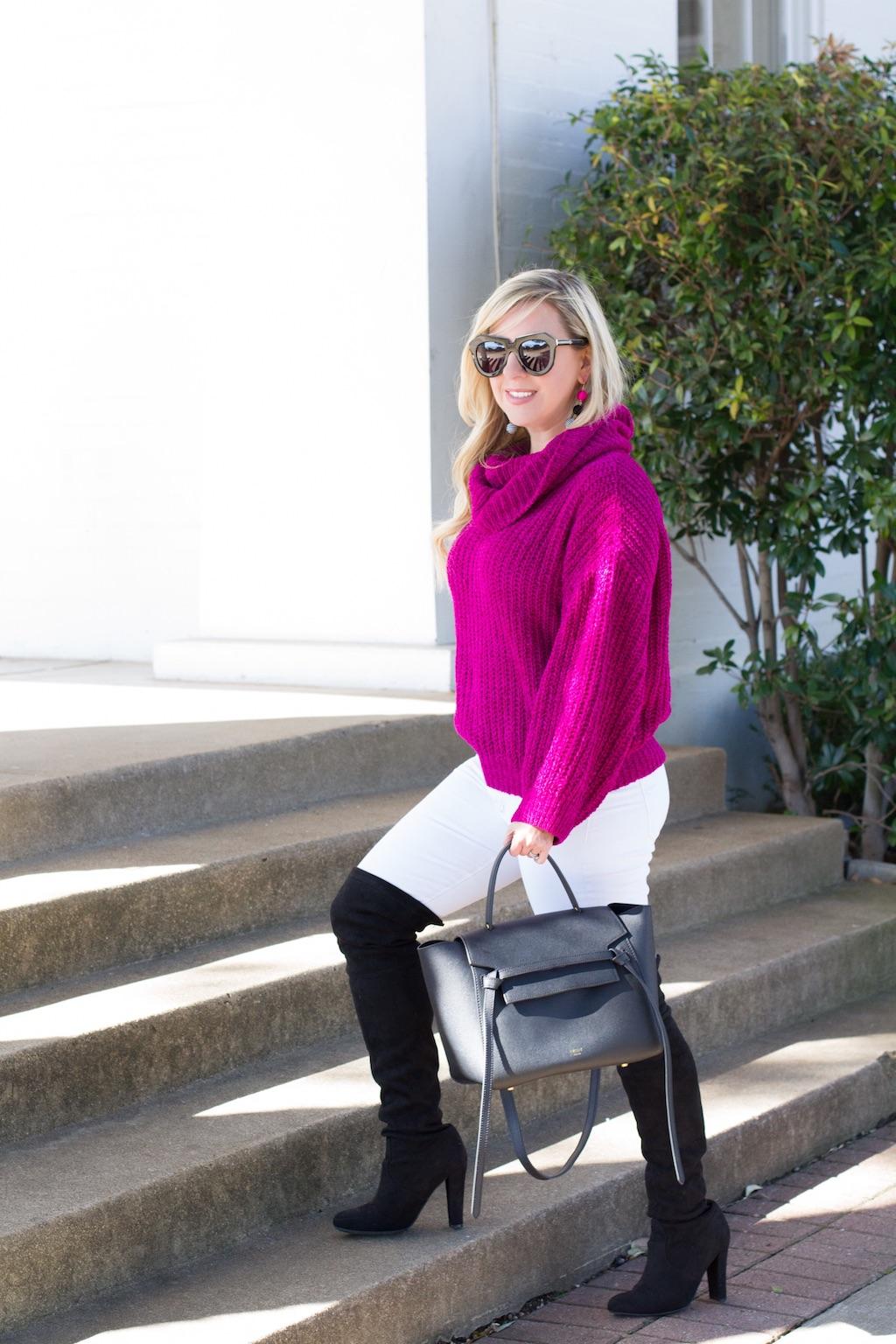 Cozy Chenille Cowl Neck Sweater   The Darling Petite Diva   Nicole Kirk